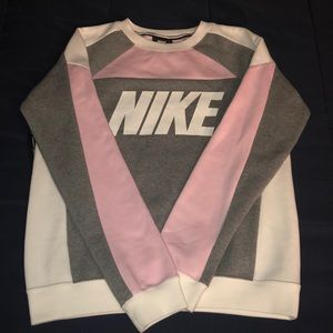 Nike pink and grey sweater